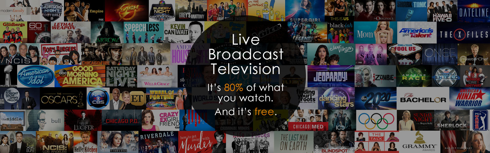 Live Broadcast TV is 80% of what you watch.