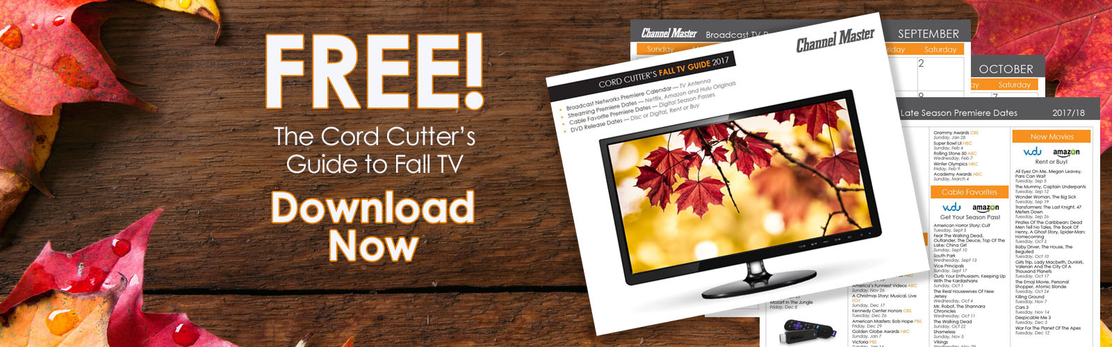 Cord Cutters Guide to Fall TV