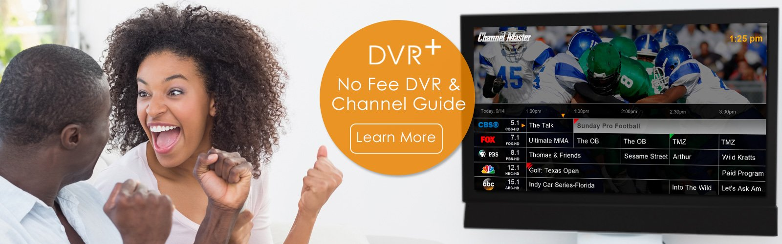 No Fee DVR and Channel Guide